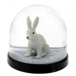 Lapin boule à neige