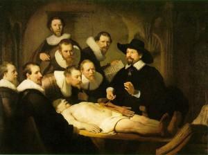 La leçon d'anatomie Rembrandt